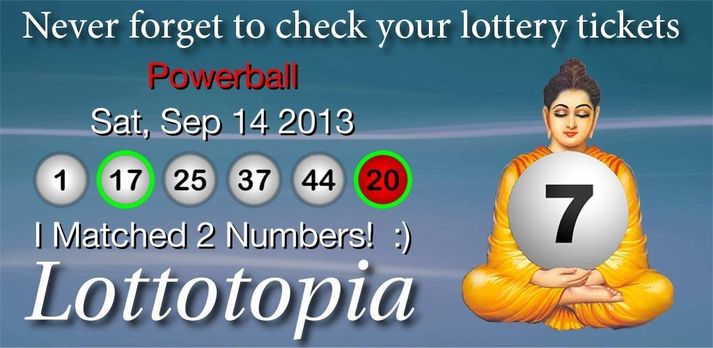 Lottotopia highlights your matching numbers in green!