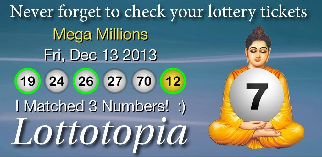 Lottotopia highlights your matching numbers in green! I matched 3 numbers yesterday, I hope you did better!