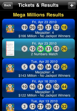 iPhone Lottery App Lottotopia